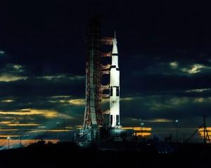 Saturno V, el cohete que puso en orbita a Apolo 17.